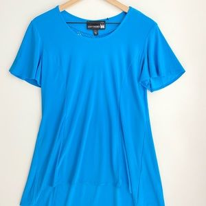 Anthony High-low Tunic Blue Blouse, Size L, NWT